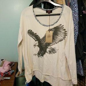ABS denim collection tshirt nwt
